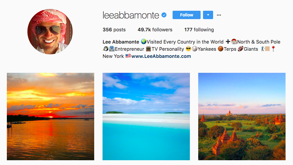 Lee Abbamonte Top Travel Influencer