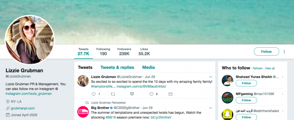 Lizzie Grubman Top PR Influencer