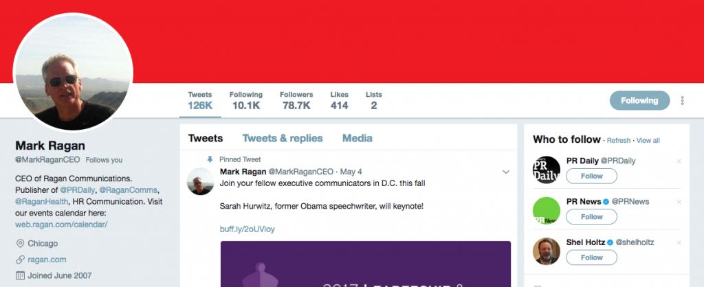 Mark Ragan Top PR Influencer