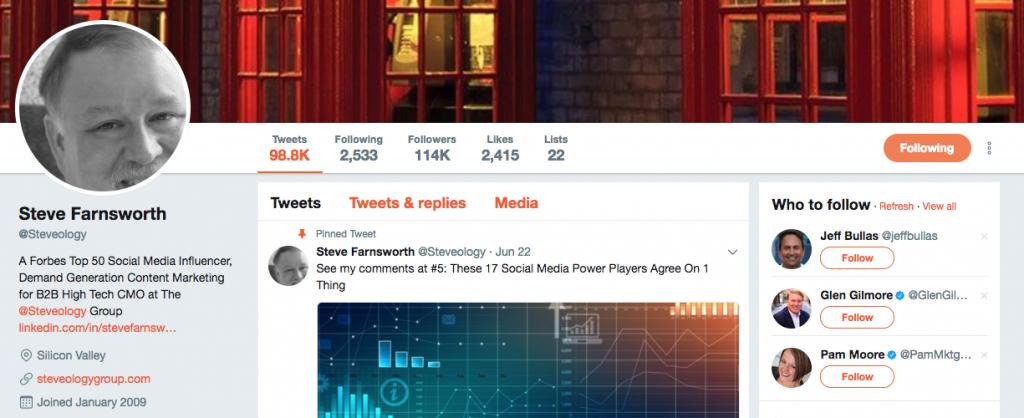 Steve Farnsworth Top PR Influencer