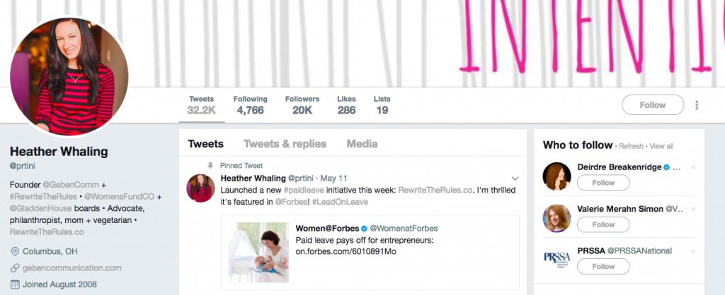 Heather Whaling Top PR Influencer