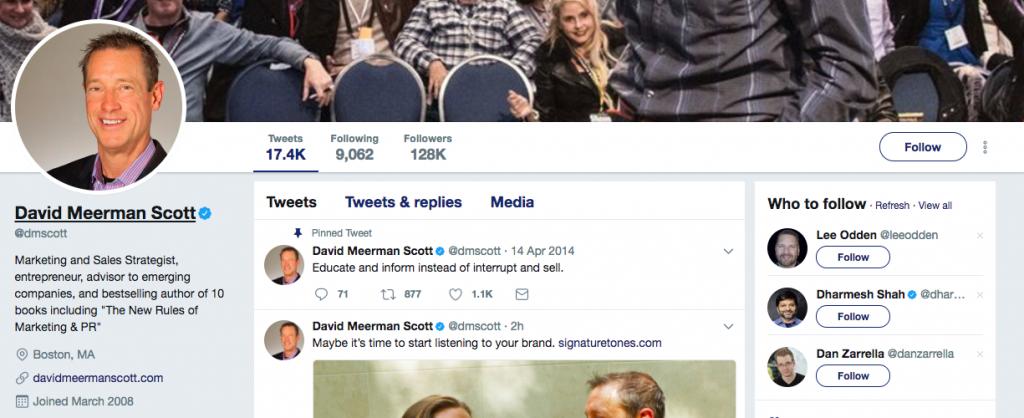 David Meerman Scott Top PR Influencer