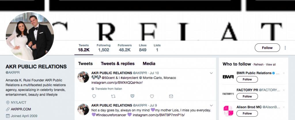 AKR Public Relations Top PR Influencer
