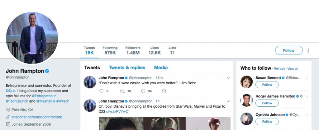 John Rampton Top SEO Influencer