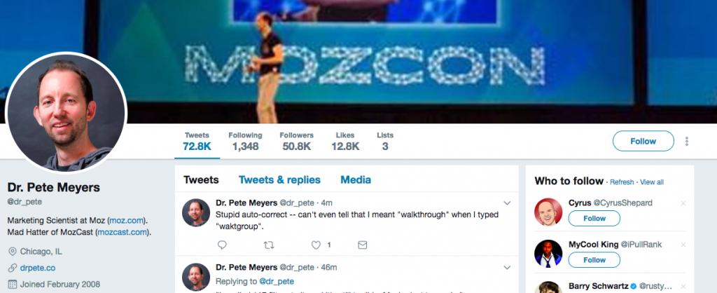Dr. Pete Meyers Top SEO Influencer