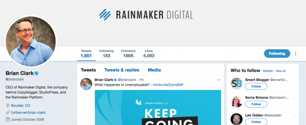 Brian Clark Top SEO Influencer
