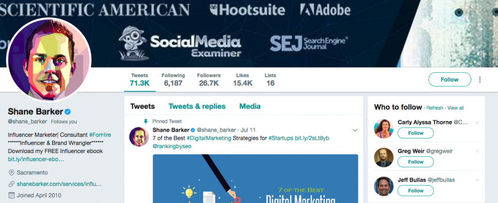 Shane Barker Top SEO Influencer