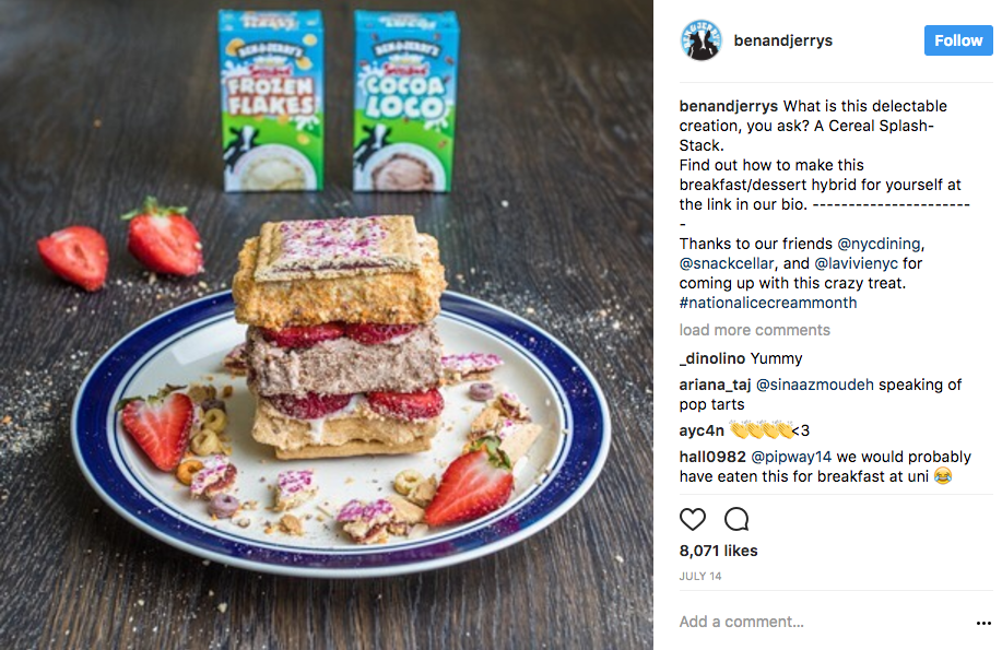 Ben And Jerry's Instagram Content Marketing