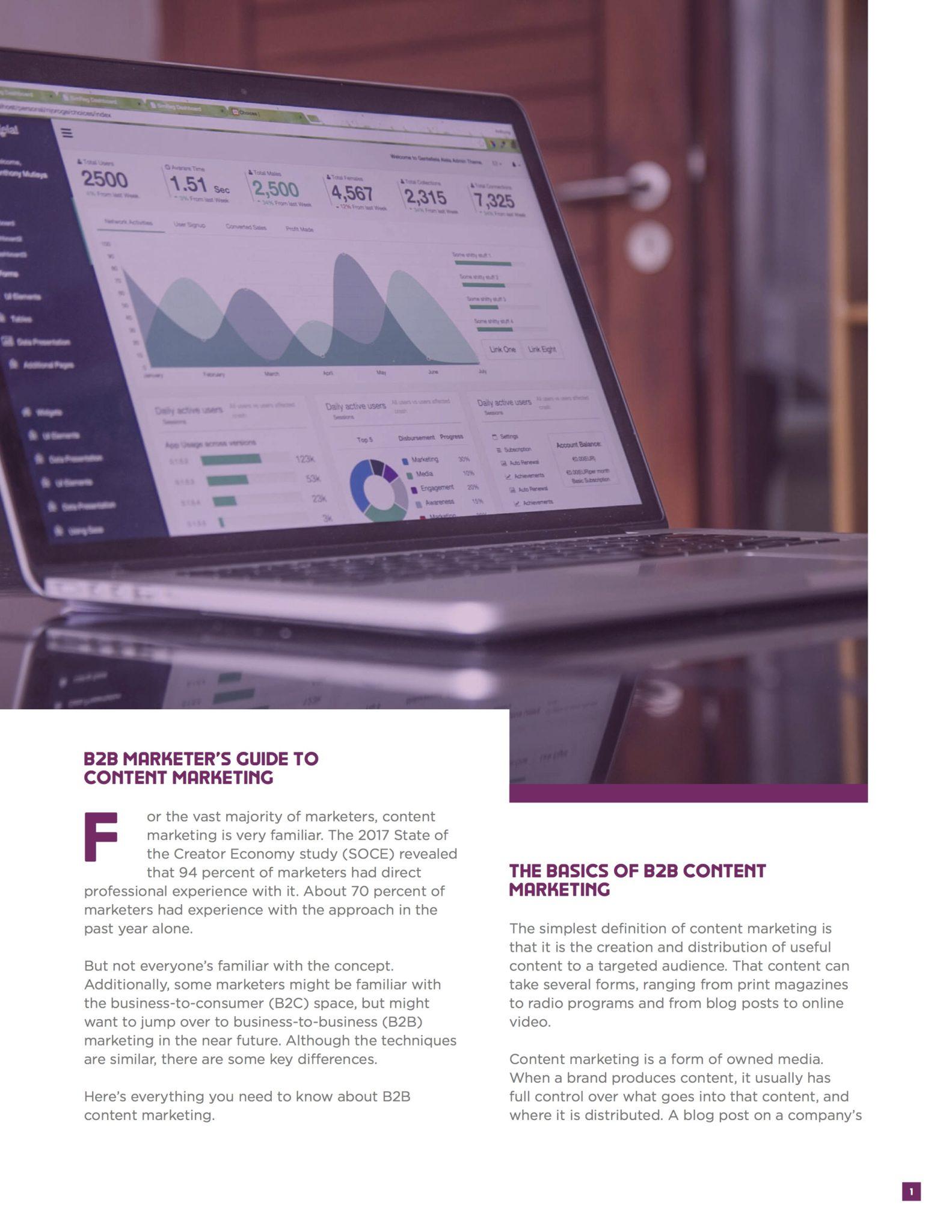 B2B Content Marketing Ebook 1
