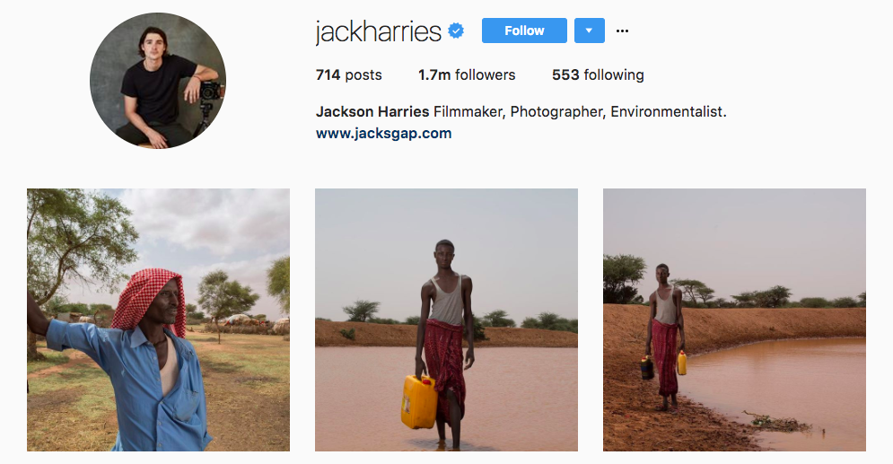 Jackson Harries Top Travel Influencer