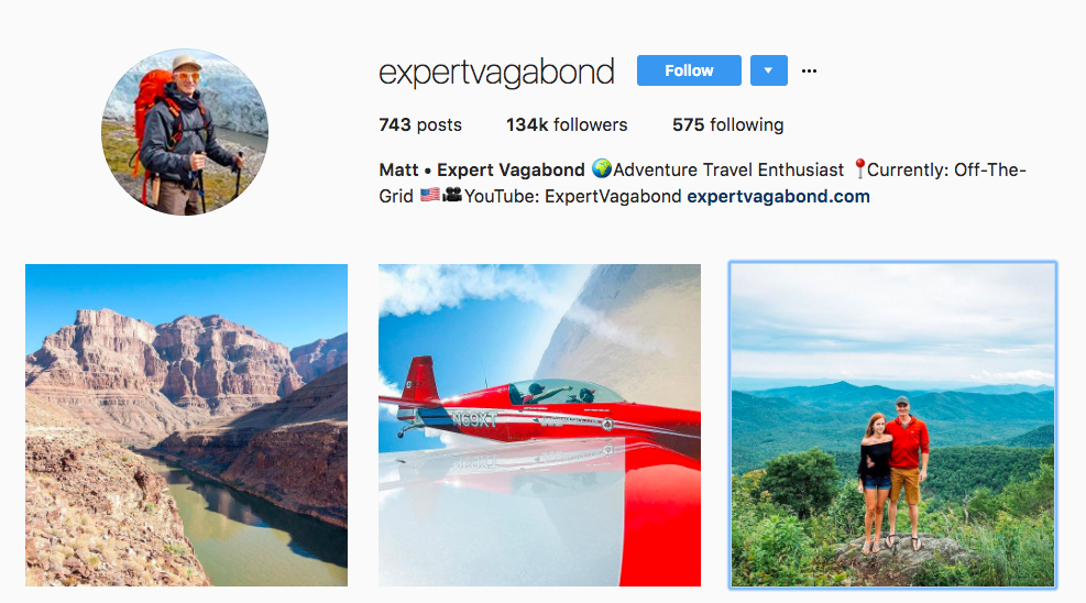 Expert Vagabond Top Travel Influencer