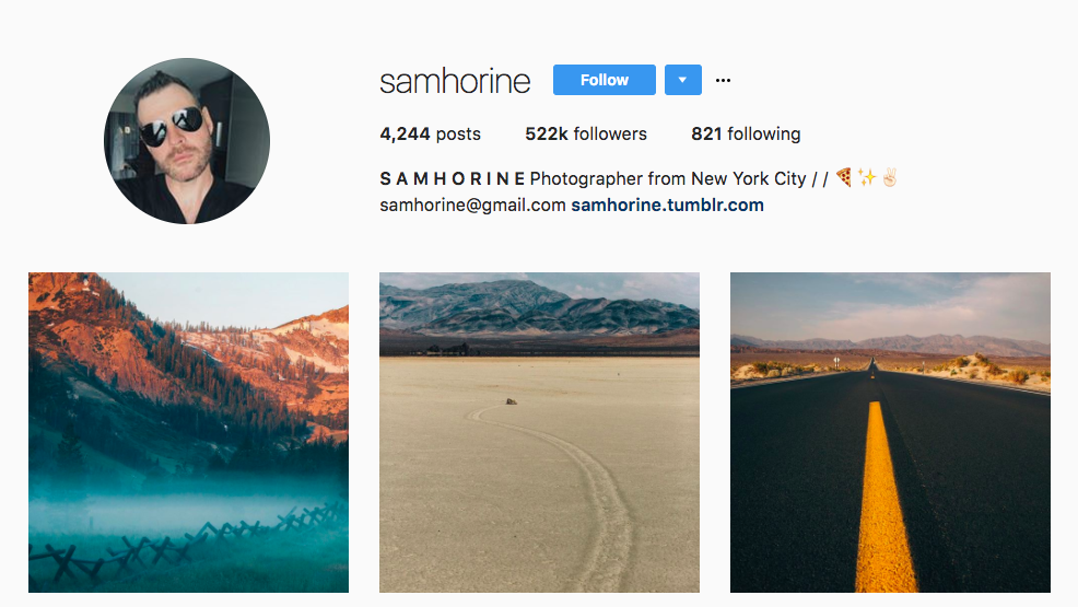 Sam Horine Top Travel Influencer
