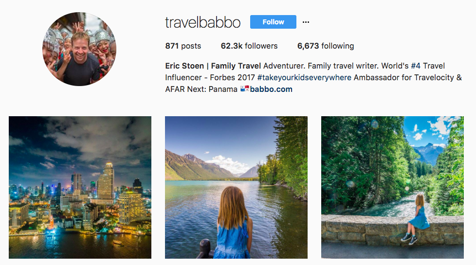 Travel Babbo Top Travel Influencer