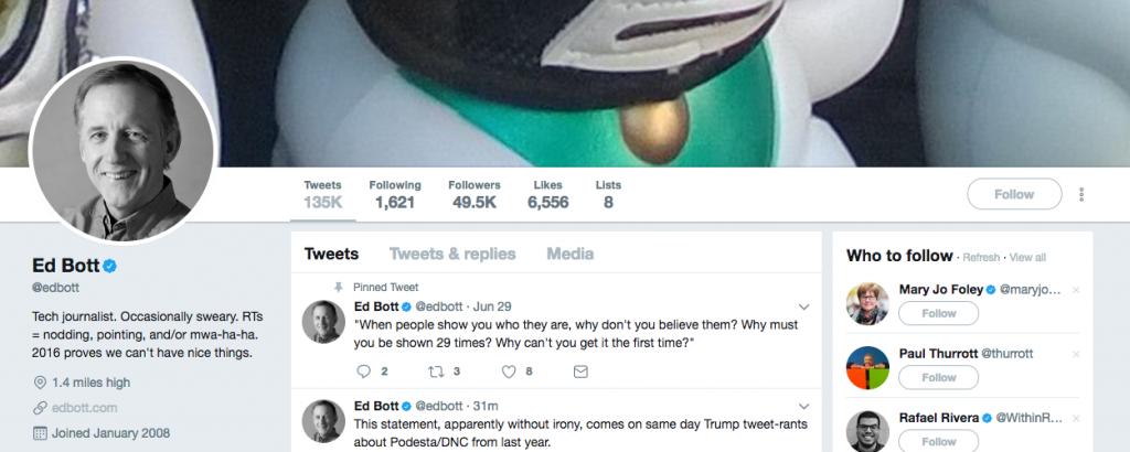 Ed Bott Top Tech Influencer