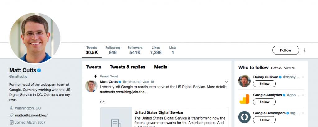 Matt Cutts Top Tech Influencer