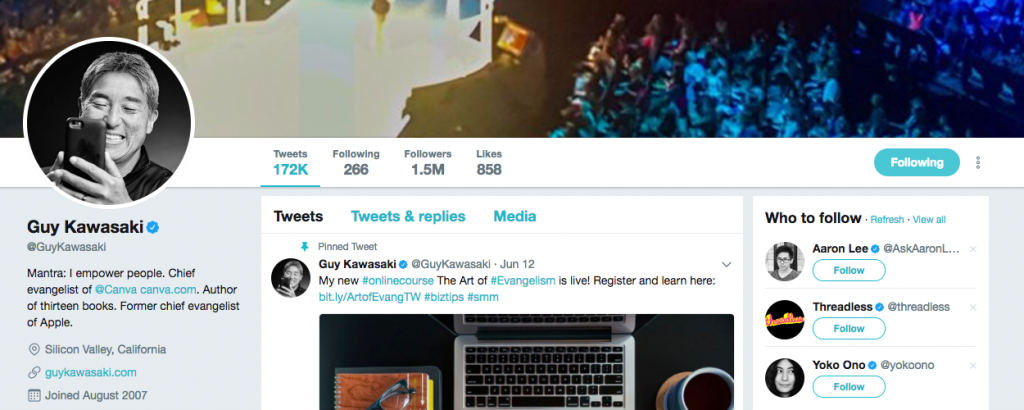 Guy Kawasaki Top Tech Influencer