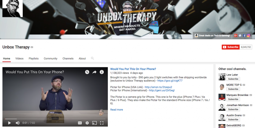 Unbox Therapy Top Tech Influencer