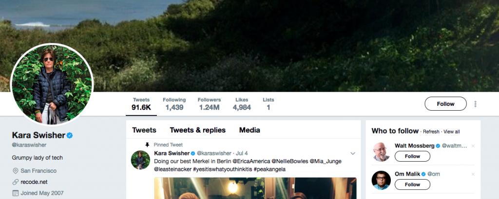 Kara Swisher Top Tech Influencers