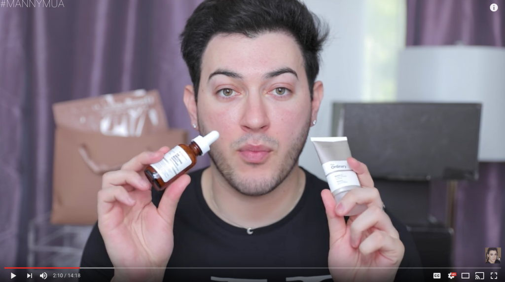 Manny MUA Influencer Video