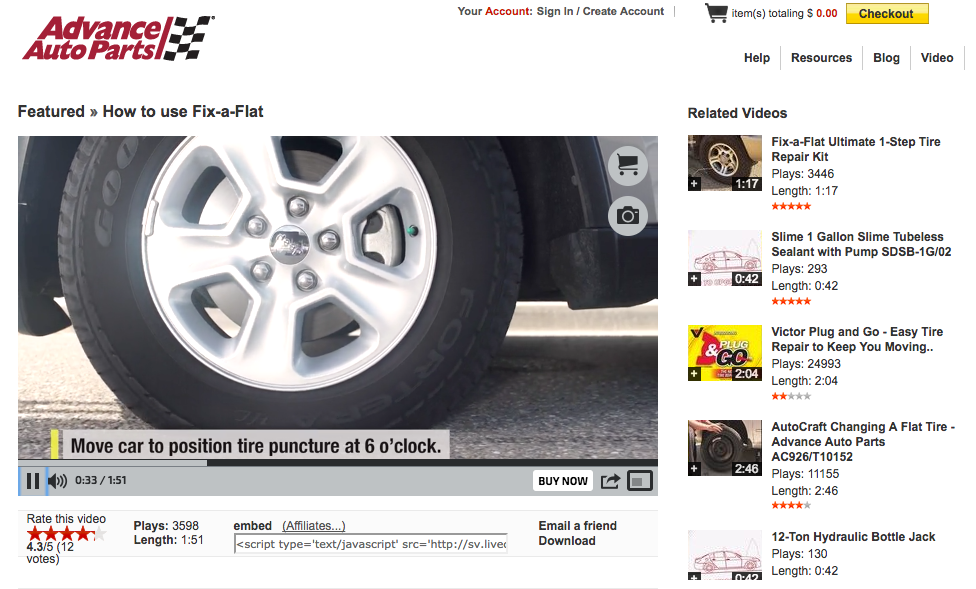 Advanced Auto Parts Video Content Marketing