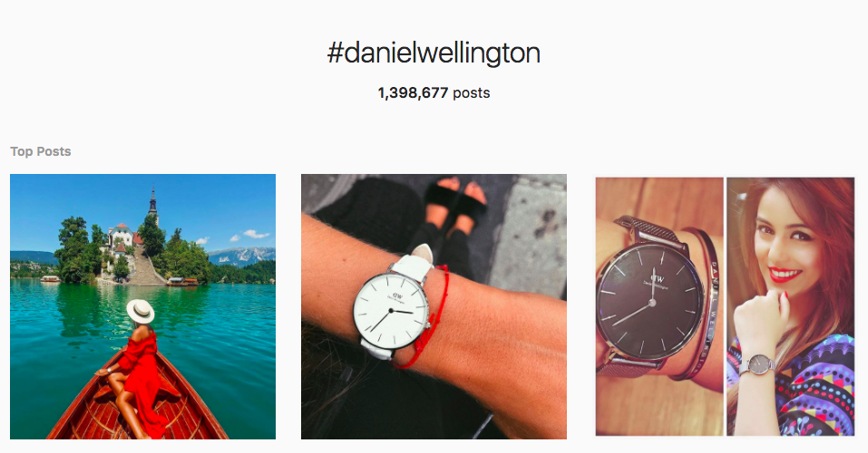 Daniel Wellington Influencer Marketing Campaign Examples