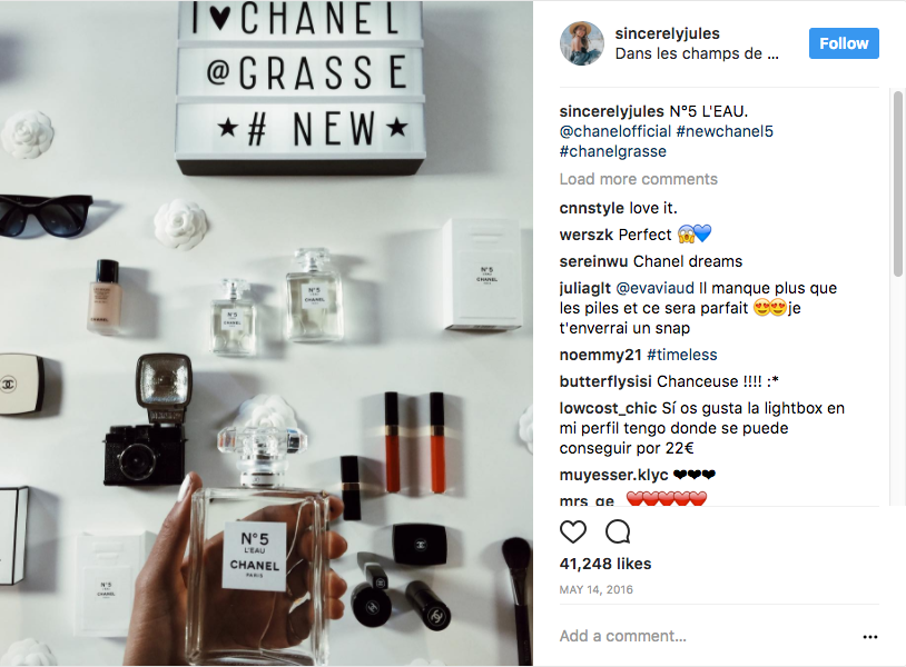 Chanel Influencer Marketing Campaign Example