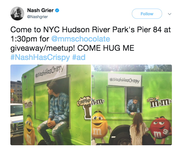 M&Ms Influencer Marketing Campaign Example