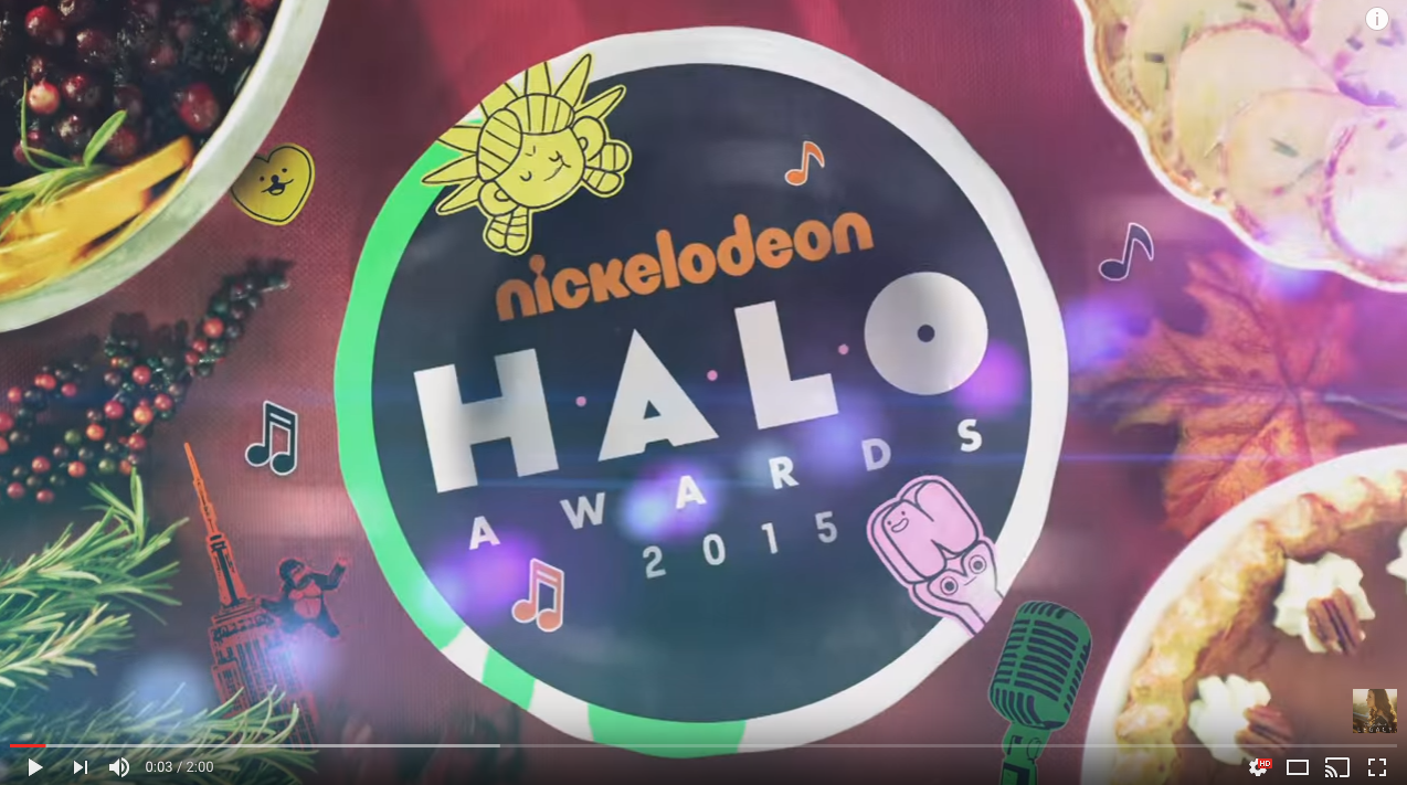 Nichelodeon Halo Awards