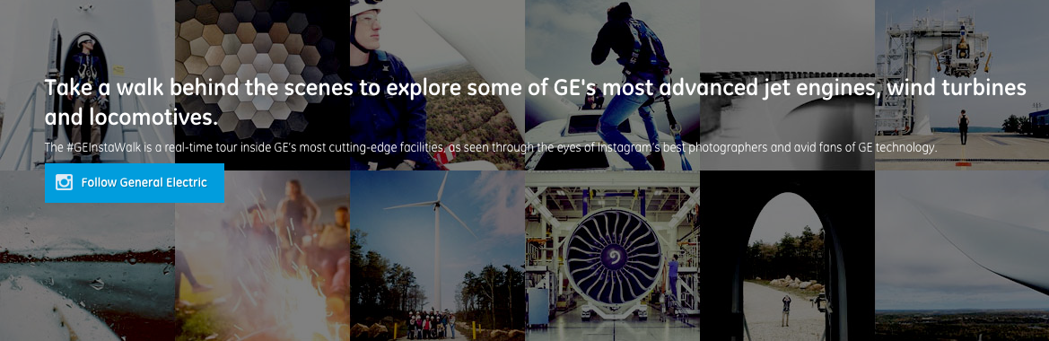 GE InstaWalk B2b Content Marketing Examples