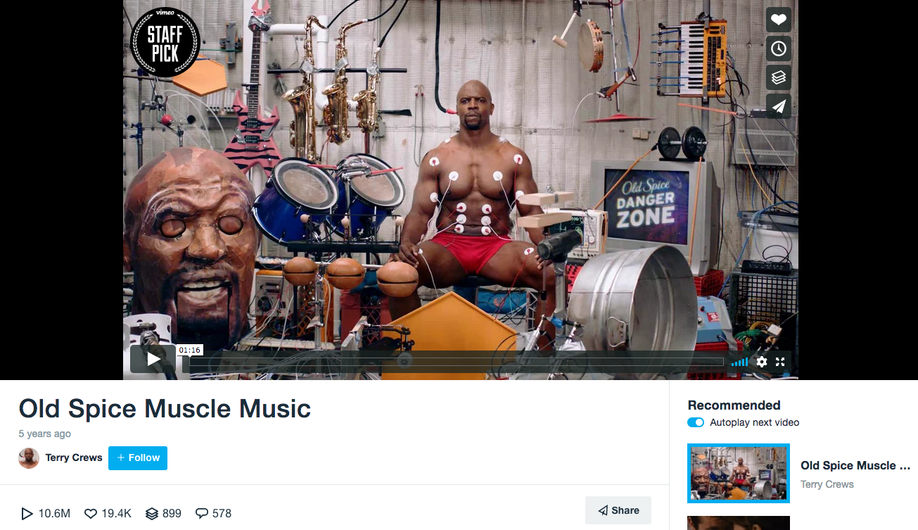 Old Spice B2C Content Marketing Examples