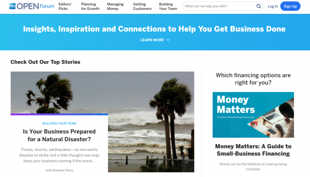 Content Marketing Brands American Express