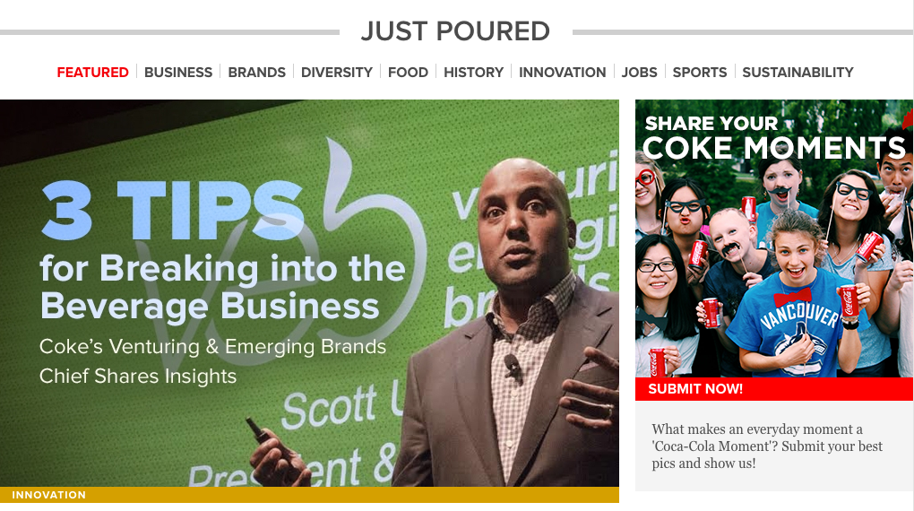 Coca-Cola Content Marketing Brands