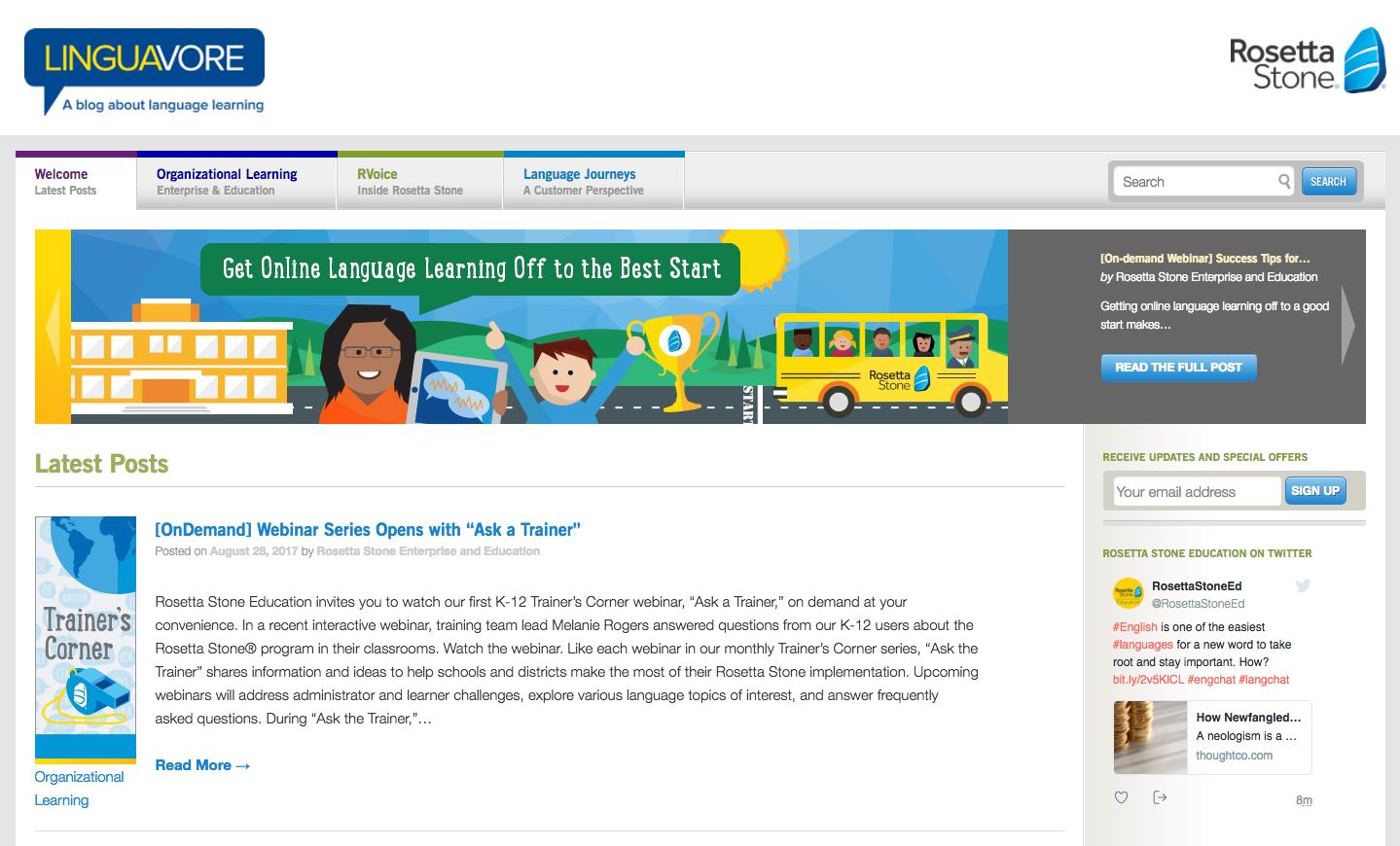 Rosetta Stone Content Marketing Brands