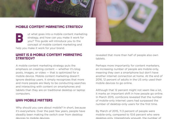 Mobile Content Marketing Ebook Image3