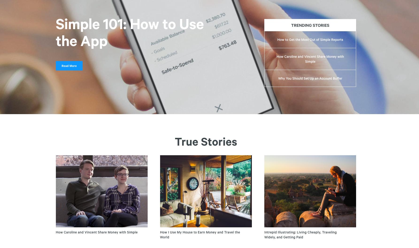 Simple Content Marketing Design