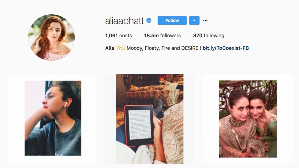 Alia Bhatt Instagram Influencer
