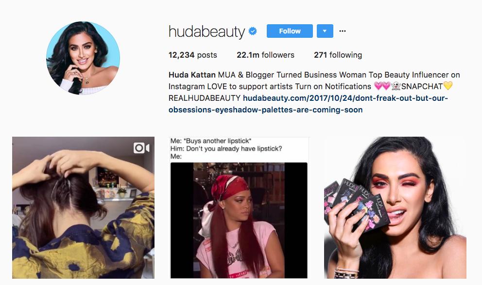 Huda Kattan Instagram Influencer