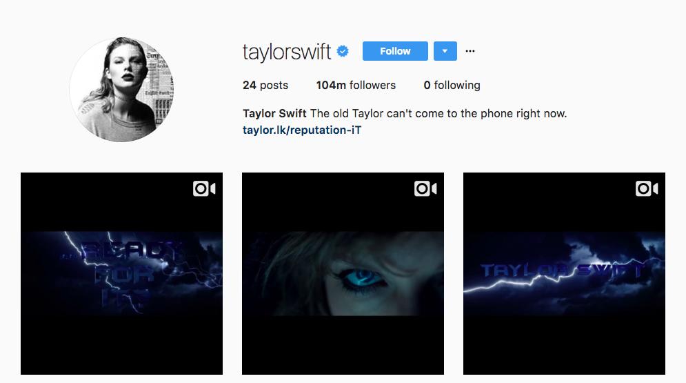 Taylor Swift Top Instagram Influencers