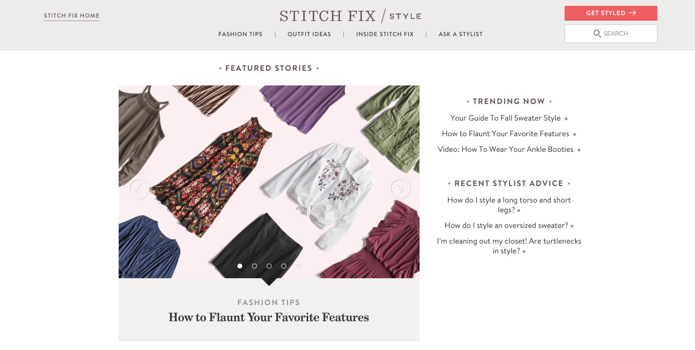 Stitch Fix Fashion Content Marketing