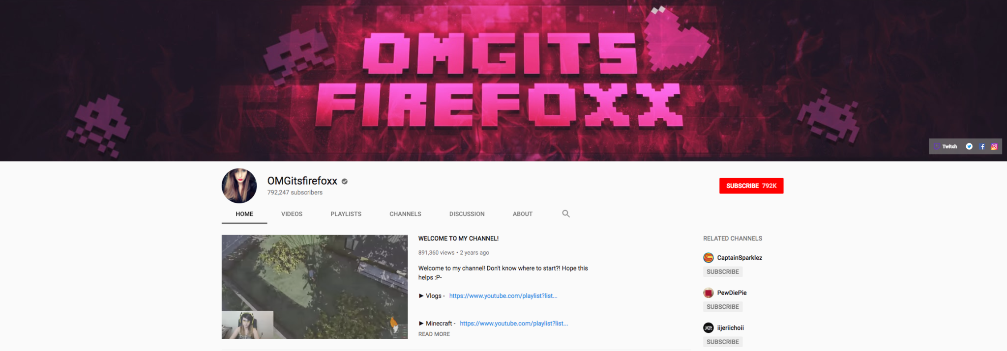 OMGitsfirefoxx Top Gaming Influencers