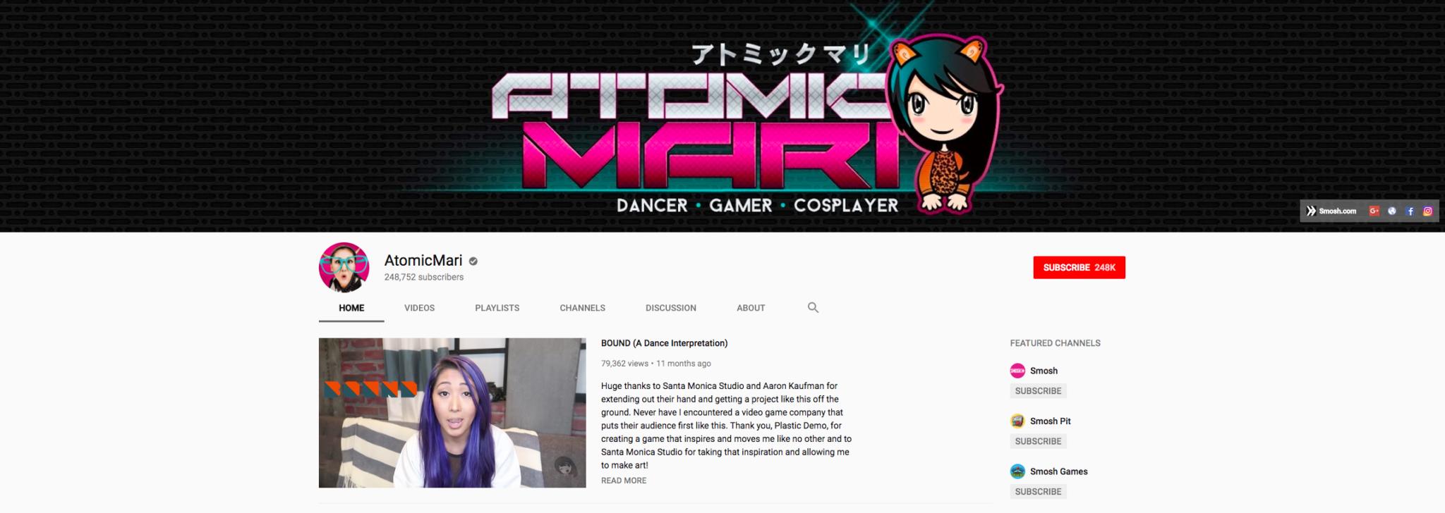 AtomicMari Top Gaming Influencer