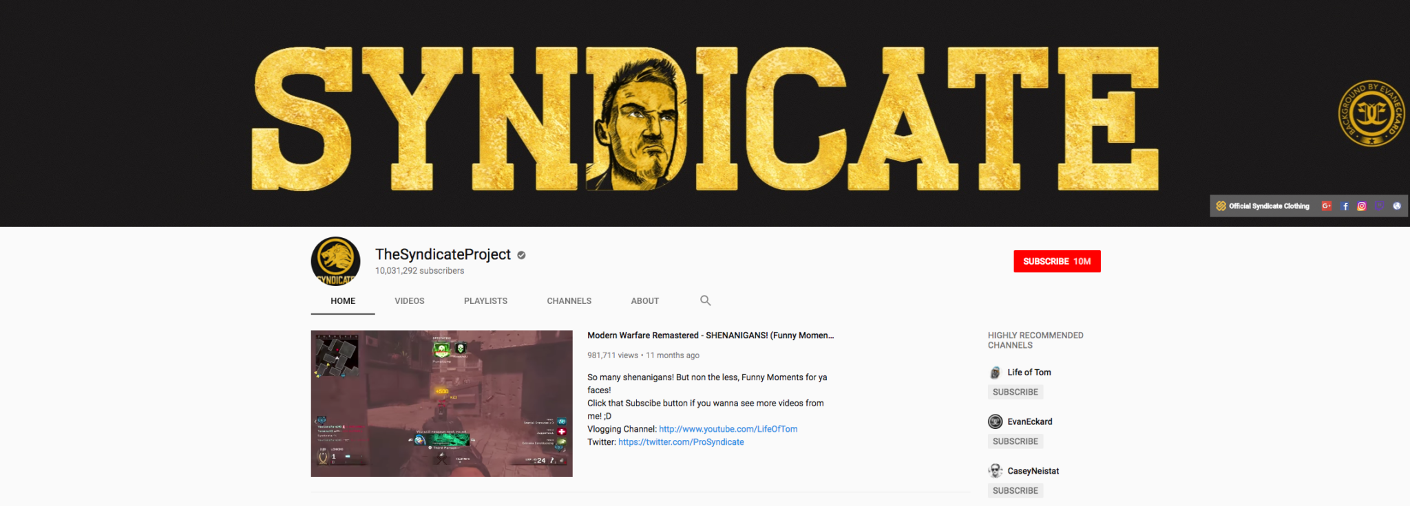 TheSyndicateProject Top Gaming Influencer