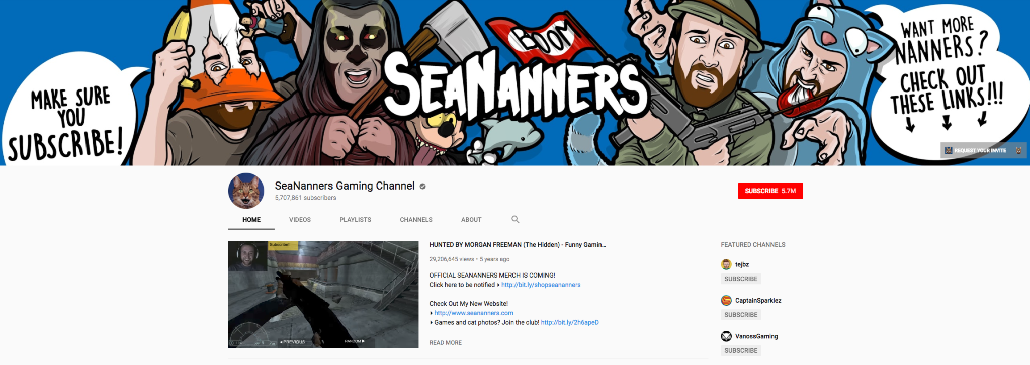 SeaNanners Top Gaming Influencer