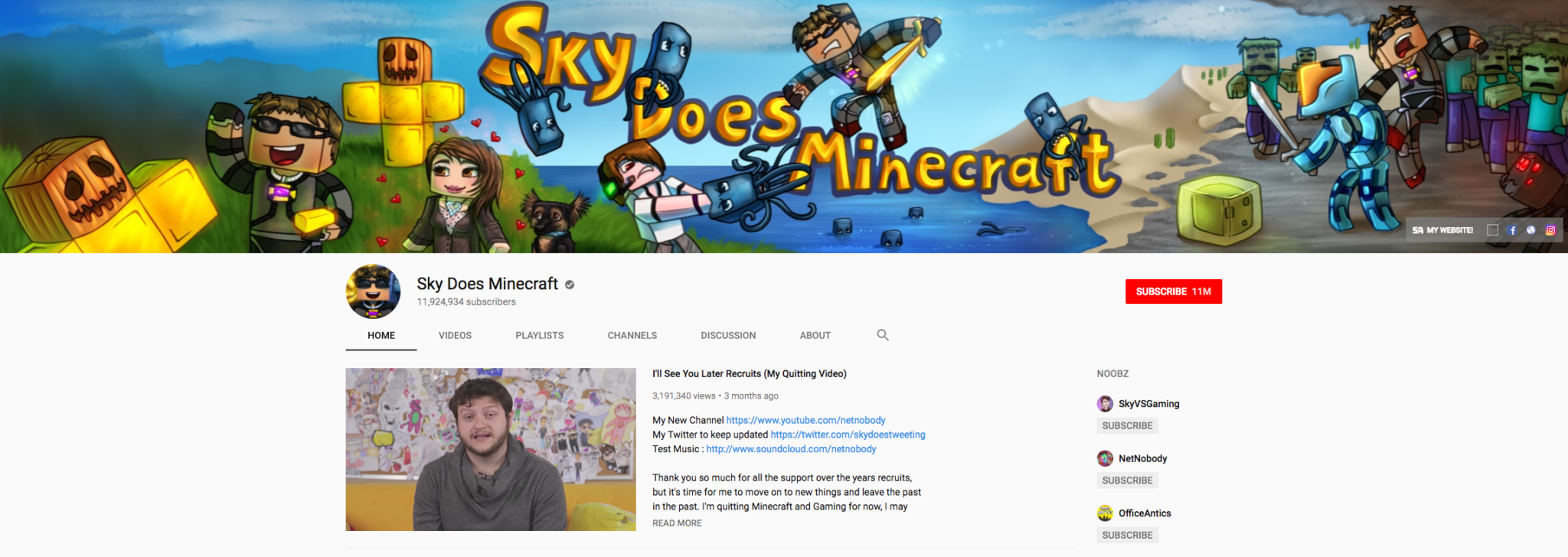 Sky Does Minecraft Top Gaming Influencer