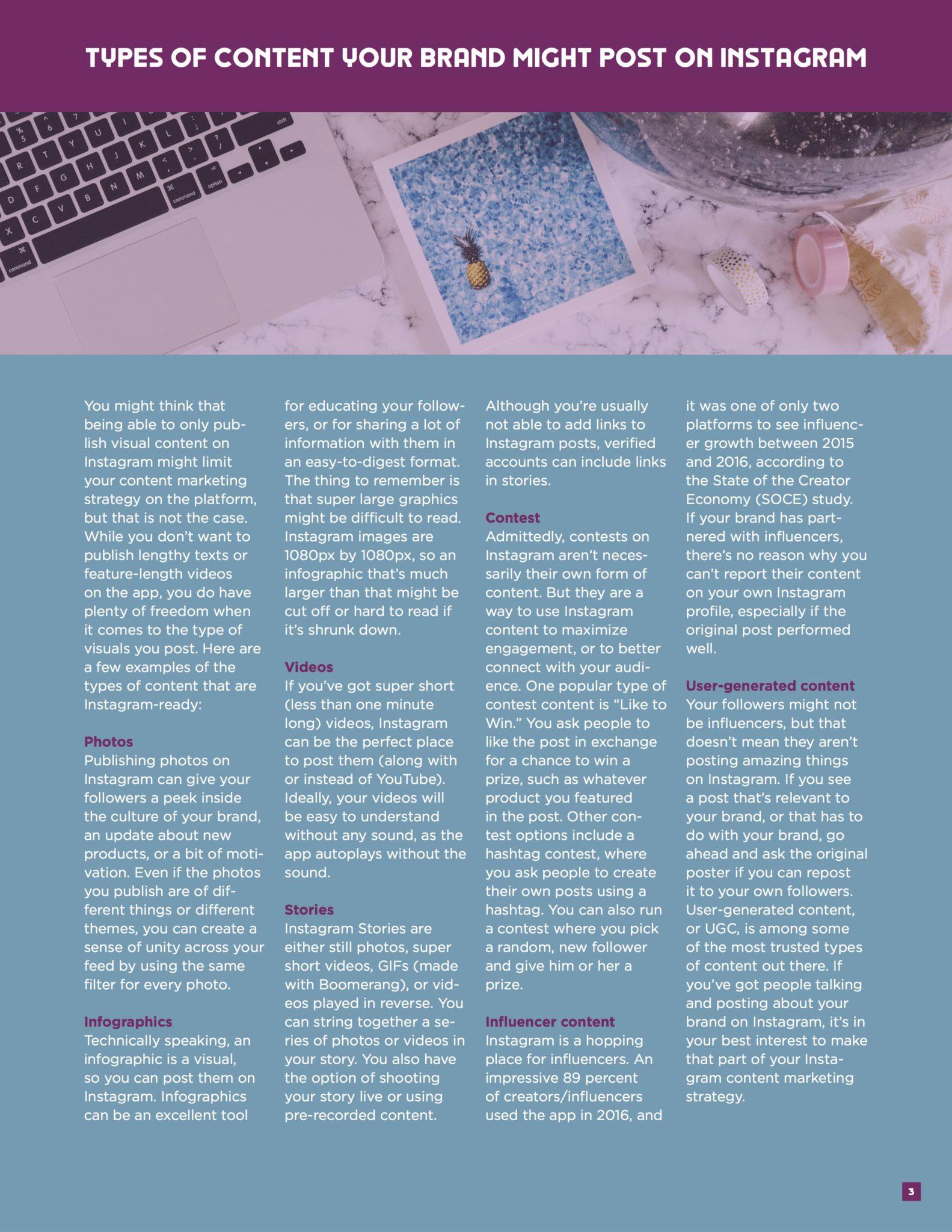 Instagram Content Marketing Ebook 2
