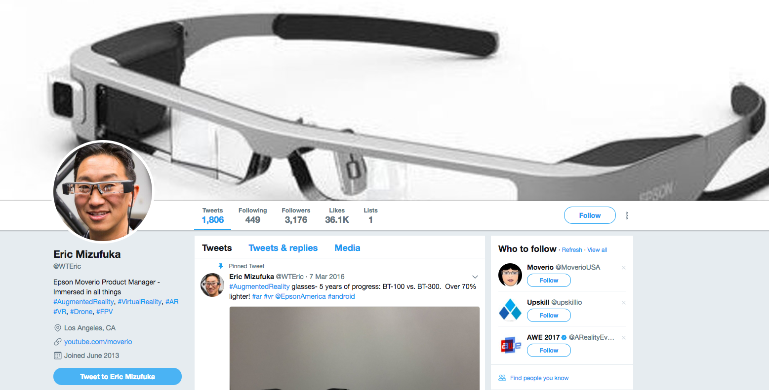 Eric Mizufuka TOp Augmented Reality Influencer