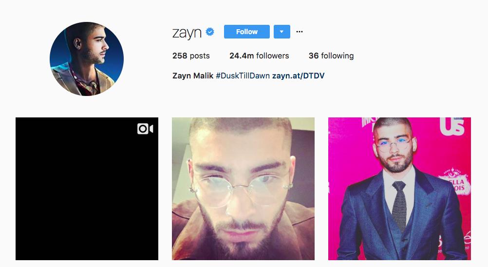 Zayn Instagram Influencer