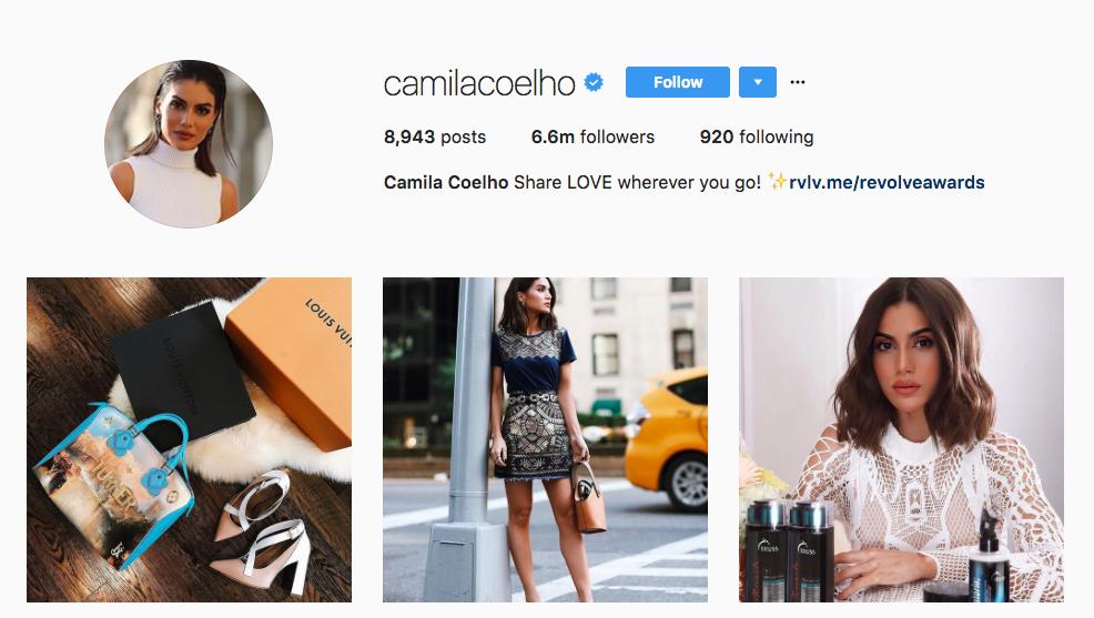 Camila Coelho Top Instagram Influencers 2017