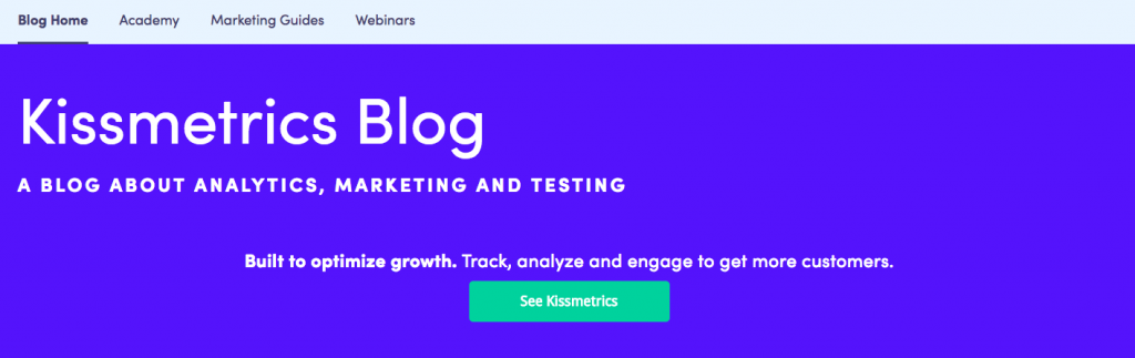 Kissmetrics Content Marketing Blog