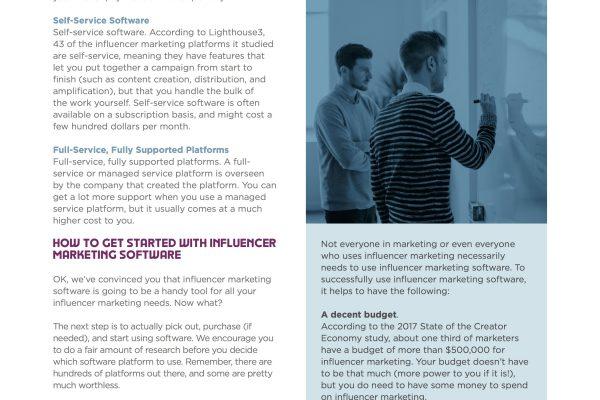 Influencer Marketer Software Integration